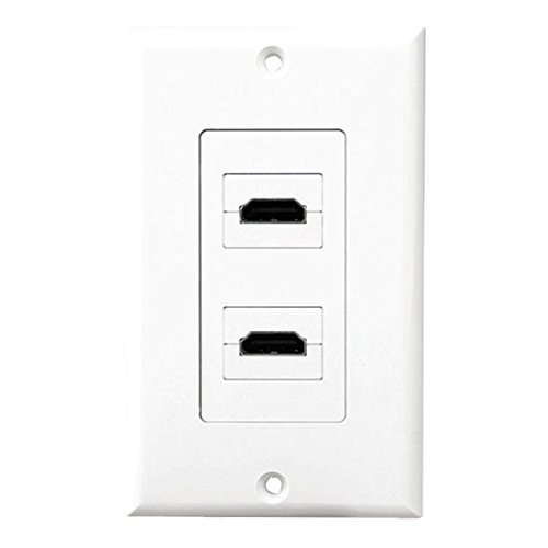 Pyle Home phdmiw2Dual HDMI Wall Plate 90Grad Exit Anschlüsse Subwoofer-wall Plate