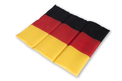 Sitzkissen Deutschland Schwarz-Rot-Gold, Fanartikel Germany, faltbar