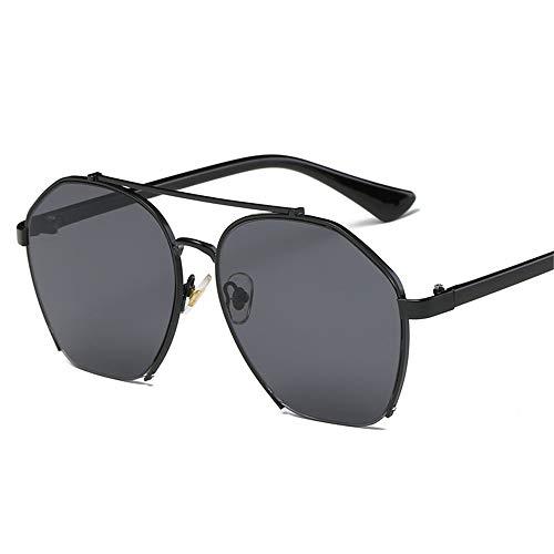 Persönlichkeit gegen die Blaue Brille Sonnenbrillen Männer und Frauen Typ Frame Brille verhindern Blue Swooning LUE Shading Brille Brille (Farbe : Schwarz, Größe : Free Size)