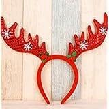 mishow divertidos Halloween Navidad y partido de vacaciones felpa diadema cuernos de reno adorno de pelo