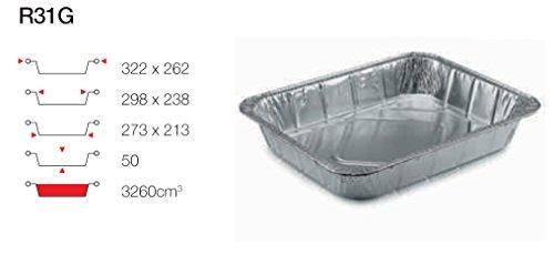 contital Barquette en aluminium 6 Portions 50 PZ R31G