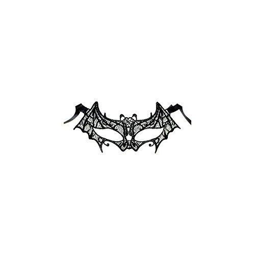 Erwachsene/Kinder Gothic Kostüm Halloween Fledermaus Spitze Maske - schwarz, (Kostüme Halloween Kinder Home)