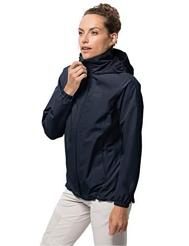 Jack Wolfskin Stormy Point Jacket W, wasser- und winddichte Damen Regenjacke, robuste Hardshelljacke für jedes Wetter, atmungsaktive Damen Jacke