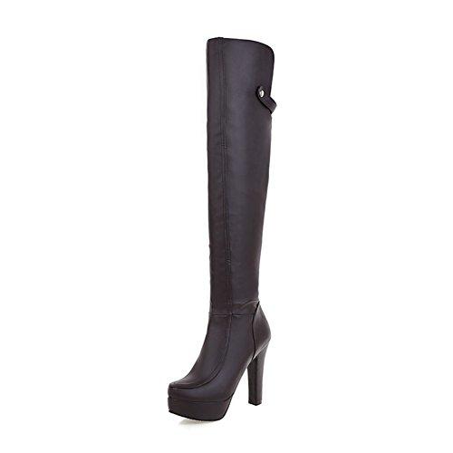 stivali donna moda moderna/ stivali/Grace Stivali sopra il ginocchio stivali-A Longitud del pie=22.3CM(8.8Inch)