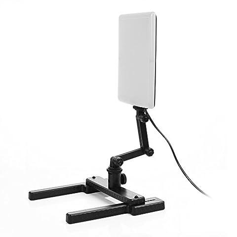 Ruili 96 Led Studio-Licht Video Lampe + Verstellbare Arm & Haltewinkel-Stand Kit für (Digital Studio Beleuchtung)