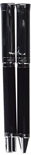 Wedo 260551226 Schreibset Kugelschreiber und Füllhalter Tyron (im Geschenketui) schwarz/chrom