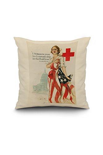 red-cross-vintage-poster-artist-fisher-harrison-c-usa-c-1918-18x18-spun-polyester-pillow-case-white-