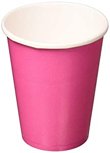 Amscan International-58015-103-brillante rosa vasos de papel 266ml