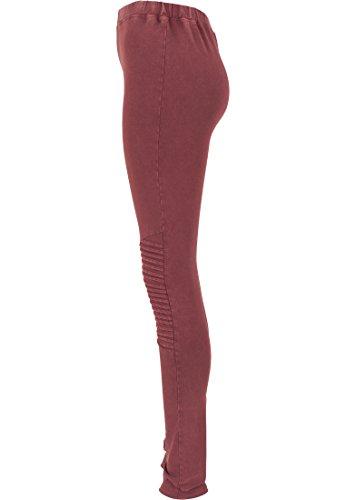 Urban Classics Denim Jersey Leggings da donna Multicolore (Burgundy)