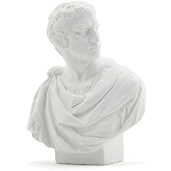 Owfeel Plaster Bust Statue Resin Casting Painting White Type F