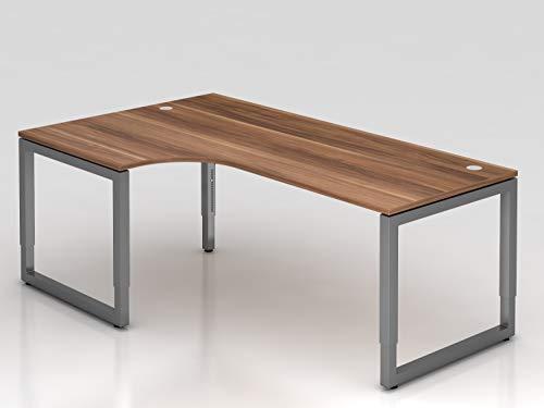 Winkeltisch O-Fuß eckig 200x120cm Zwet./Graph -