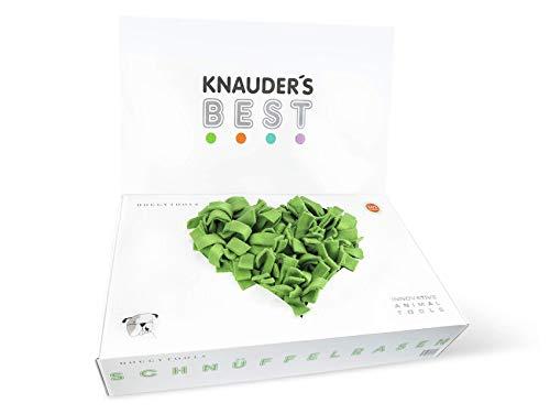 Knauder's Best Schnüffelteppich Schnüffelrasen 60 x 60 cm Hunde Beschäftigung Intelligenz Spielzeug handgemacht 1 Stück