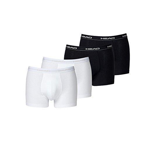 Head Herren Boxer Boxershort Unterhose 4er Pack (2x black 2x white, XL)