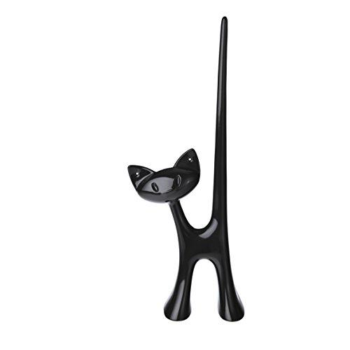 koziol Ringhalter  Miaou,  Kunststoff, solid schwarz, 4.6 x 8.6 x 21.5 cm