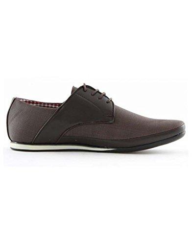 ZY Chaussure - Chaussure pas chère homme ZY 7625-2 Marron Marron