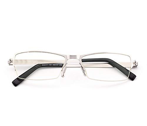 QKDSA Anti-Blaue Lesebrille, Männer und Frauen Modelle ultraleichte Mode Bequeme Strahlung alte leichte Hyperopie Brille (Farbe : SCHWARZ, größe : +1.0X)