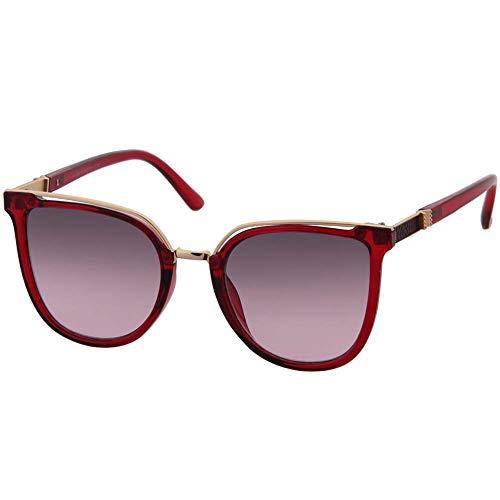 OGOBVCK cateye sonnenbrille moderne mode spiegel - sonnenbrillen brille uv400 schutz (Red)