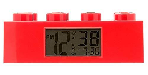Lego Kinderwecker Wecker Legostein rot, Kunststoff, Red, 9002168 -