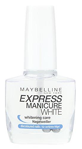 Maybelline Express Manicure Nagelweißer, zur schonenden Aufhellung von verfärbten Nägeln,...