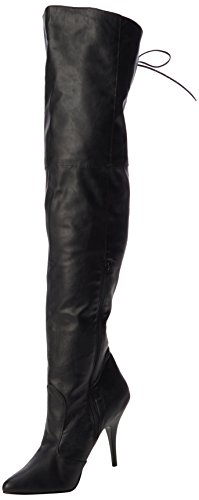 Pleaser Legend-8899, Bottes non doublées arrivant au dessus du genou femme noir (Blk Faux Leather)