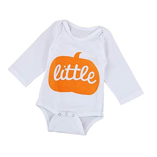 SEWORLD Baby Halloween Kleidung,Niedlich Infant Baby Jungen Mädchen Halloween Kürbis Langarm Strampler Jumpsuit Kleidung 6 Monate
