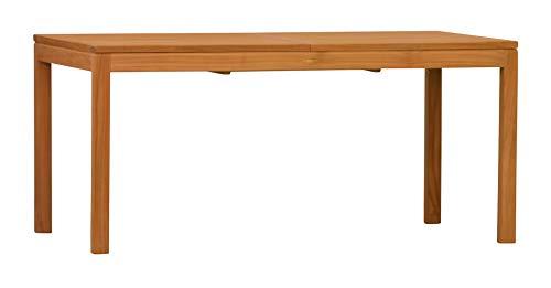 """Moderner Teakholz Ausziehtisch \""""Notting Hill\"""" - 120 cm ausziehbar auf 170 cm - Hervorragende Holzqualität - Hochwertiges (Teak,-) Kernholz - Perfekt verarbeitet - Wetterfest - Teakholztisch eckig"""