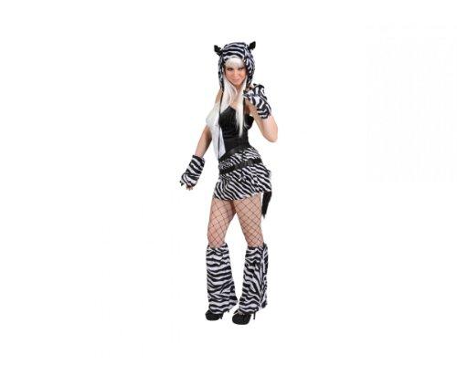 Sexy Zebra Korsage Rock Mütze Arm- & Fußstulpen, ()