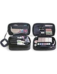 Alcoa Prime Waterproof Travel Cosmetic Makeup Bag Womens Toiletry Organizer Case Black