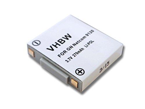 vhbw Li-Polymer Akku 270mAh (3.7V) für Headset Kopfhörer GN Netcom Jabra 9120, 9125, GN9120, GN9120 Flex, GN9125 Wie 14151-01, SG081003, u.a. (Gn Netcom Gn 9120)