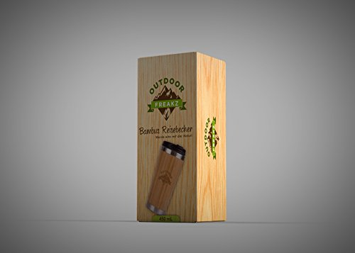 Kaffee Thermobecher aus Bambus von OUTDOOR FREAKZ – 450 ml - 9