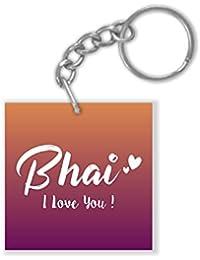 Yaya Cafe Birthday Bhaidooj Gifts for Brother Bhai I Love You Keychain Keyring