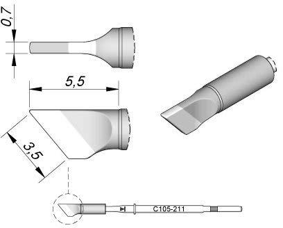 Jbc - Punta de soldador para Nano C105211