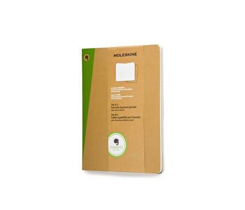 Moleskine Evernote Journal with Smart Stickers, Extra Large, (Set of 2), Ruled, Kraft Brown, Soft Cover (7.5 x 10) by Moleskine(2014-03-26) (Evernote Moleskine Journal)