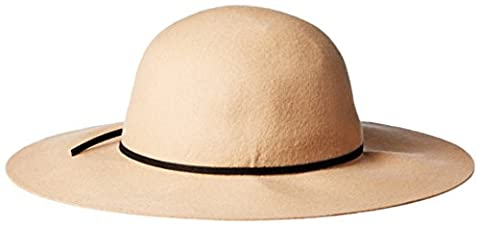 San Diego Hat Company Women's Floppy with Round Crown and Faux Suede Band, Camel, One Size