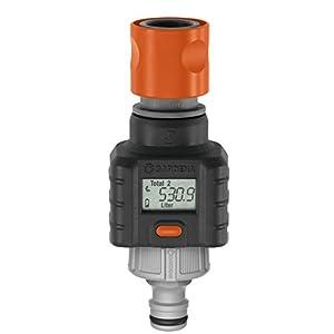 Contalitri GARDENA: Pratico contatore per acqua da montare al rubinetto o all'utenza, per controllare il consumo di acqua, a batteria (8188-20)