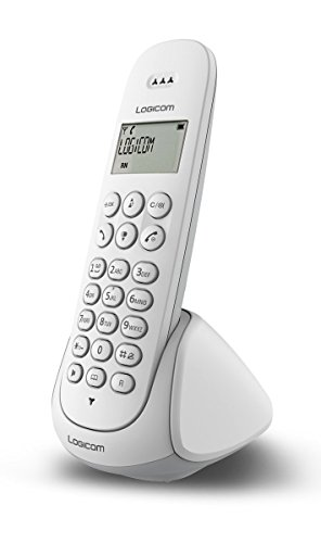 Logicom Aura 150 Téléphone fixe sans fil Blanc