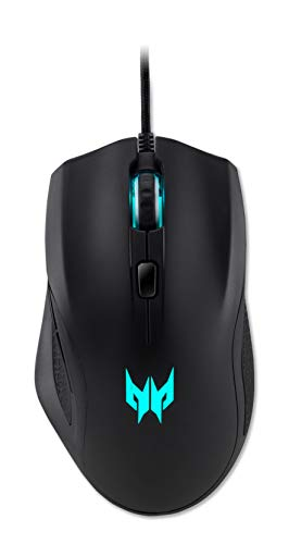 Predator Cestus 320 Gaming Mouse (Quarter Master, 6500 DPI Bewegungsauflösung, 100 IPS Tracking, 1ms, 1000Hz Poling rate, Scroll-Funktion, USB Kabel) schwarz -
