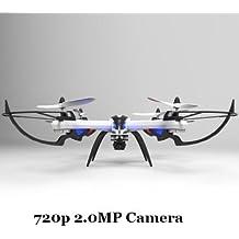 WayIn® JJRC H16 Nueva Versión Yizhan Tarantula X6 - 1 Drone 4 canales 2.4GHz LCD remoto Quadcopter de control con 2.0MP cámara Hyper COI Modo Función Orientación - negro