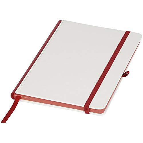 Journal Books Notizbuch mit Buntem Rücken (Einheitsgröße) (Weiß/Rot)