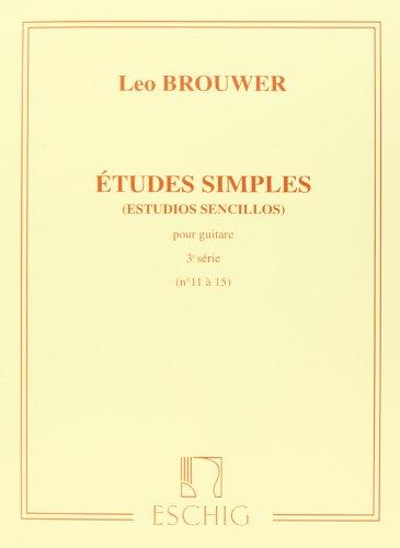 Etudes simples Volume 3 (Nos11-15) - Guitare