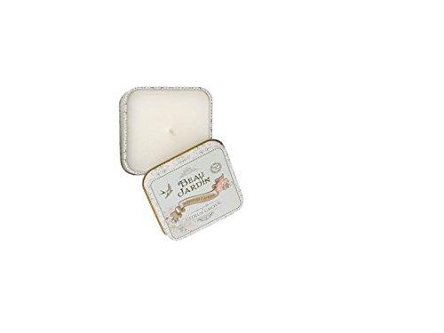 Beau Jardin Heathcote & Ivory - Candela in scatola di latta, profumata agrumi bianco