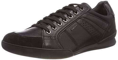 Sneakers für Herren - Trendy, Leder Sneakers, Schwarze Farbe