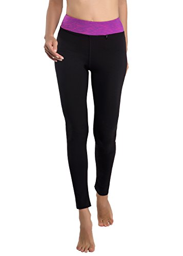 DISBEST Women Running Tight Yoga Leggings Stretchy Sports Pants High Waist Running with Pocket