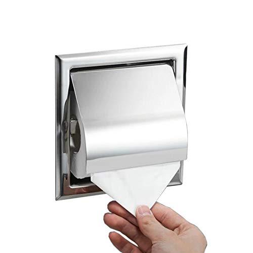 Aiboduo Toilettenpapierhalter aus Edelstahl in der Wand Chrom versenkt Toilettenpapierhalter