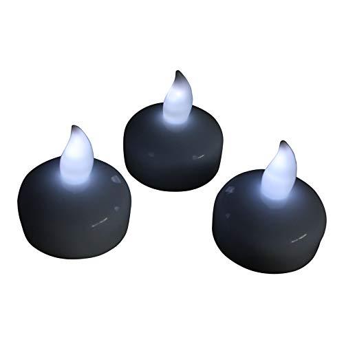 Pk green 12 candele led galleggianti bianche - lumini a batteria per piscina, laghetto, vasca da bagno, matrimonio