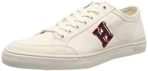 Tommy Hilfiger Core Corporate Seasonal Sneaker, Scarpe da Ginnastica Basse Uomo, Bianco (off White 156), 44 EU