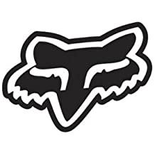 adhesivo Fox Racing Fox Logo Solid Face - Vinyl Decal Sticker 76mm BLACK