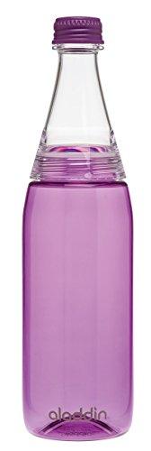 Aladdin - Fresco Twist & Go - Bouteille d'eau réutilisable en Plastique Violet Ø 8 x 8 x 27 cm