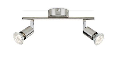 Philips lighting limbali lampada faretti 2 luci 2 x 50 w, argento