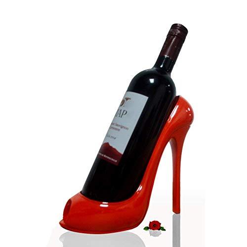 Mr.LQ High Heels Weinregale Für Wohnzimmer Kreativ Modernen Stil Hochzeitsgeschenk Tisch Top-Flasche Halter,Red,20X10x19cm (Weinregal Top)
